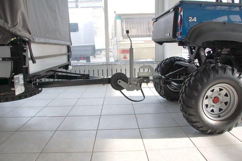 Подкатное колесо для прицепа своими руками