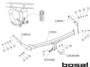 Фаркоп на Ford Focus 3 SW (Bosal 3973-A) 2011 - настоящее время