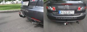 Фаркоп на Mazda 6 (Bosal 4522-A) 2002 - 2008 г. Съёмный крюк на 2 болтах