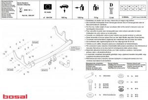 Фаркоп на Sandero Stepway (Bosal 1427-A) 2010 - настоящее время