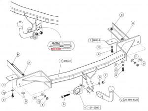 Фаркоп на Zafira ST (Bosal 1182-A) Съёмный крюк