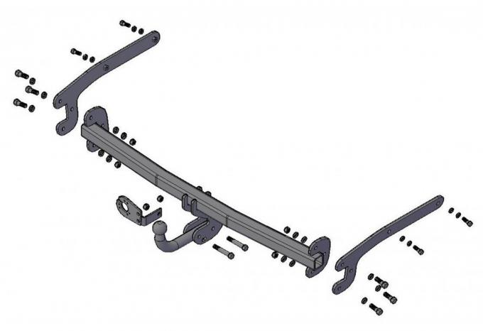 Фаркоп трейлер для Ford Focus 3