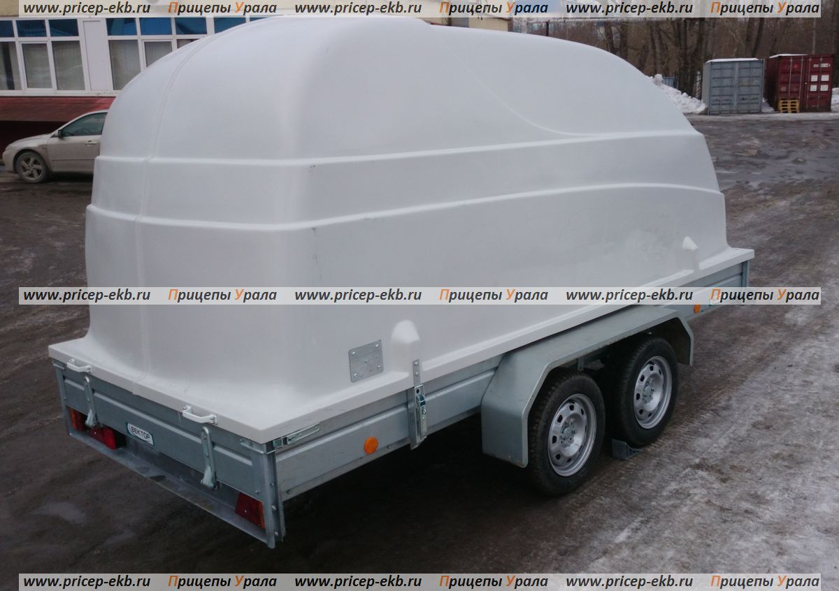 Прицеп ЛАВ-81013 (возможна комплектация с пластиковой крышкой)