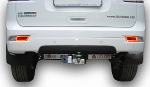 Фаркоп на Chevrolet Trailblaser (с нерж. пластиной) (2012 - ) (Лидер-Плюс C216-F(N))