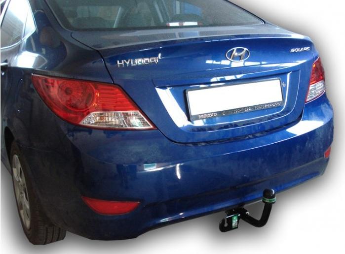 Фаркоп на Hyundai Solaris седан, хэтчбек (2010-), Kia Rio III седан, хэтчбек (2011-) (Лидер-Плюс H219-A)