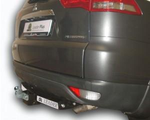 Фаркоп на Mitsubishi Pajero Sport С нерж.пластиной (2008-) (Лидер-Плюс M115-F(N))
