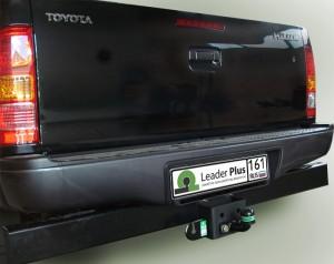 Фаркоп на Toyota Hilux (4WD) (N2) с задним силовым бампером (2008-2015) (Лидер-Плюс T114-FC)