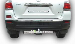 Фаркоп на Toyota Highlander с нерж.пластиной (2010-2013) (Лидер-Плюс T119-F(N))