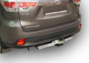 Фаркоп на Toyota Highlander с нерж.пластиной (2013-) (Лидер-Плюс T120-F(N))
