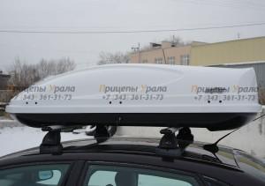 """Автомобильный Бокс на крышу """"KOFFER A-430""""  (430 литров, белый)"""