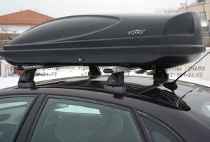 """Автомобильный Бокс на крышу """"KOFFER A-430""""  (430 литров, черный)"""