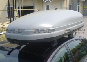 """НОВИНКА!!!  Автомобильный Бокс на крышу """"KOFFER A-480""""  (480 литров, серый)"""