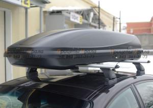 """Автомобильный Бокс на крышу """"KOFFER T-600""""  (330 литров, черный)"""