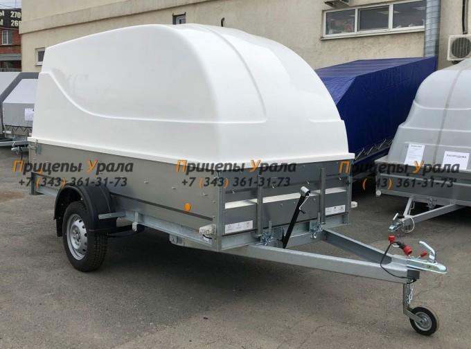 Прицеп Трейлер 829450 (3,5x1,5/R16/РЕС) с пластиковой крышкой