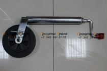 Опорное колесо для прицепа (D=48), 150 кг с тормозом Pinstop