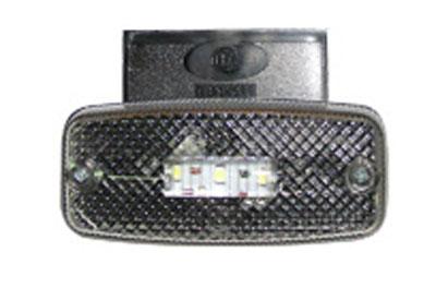 Фонарь габаритный белый (светодиодный) с кронштейном ЕС 04.Б LED-K