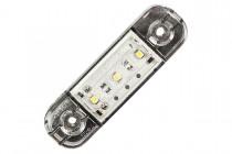 Фонарь габаритный белый (светодиодный) без кронштейна ГФ 22 LED