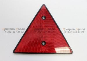 Отражатель красный треугольный