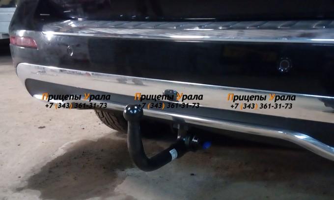Фаркоп для Mercedes GLE-Class w166 (2015-2019), Mercedes ML-Class w166 (2012-2015), Mercedes M-Class w164 (2005-2012) (вертикальный быстросъемный шар) (IMIOLA M.A43)