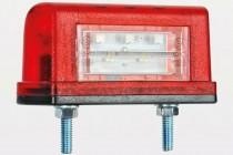 Фонарь подсветки номера (светодиодный) красный EC 10 LED