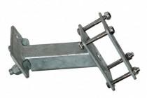 Кронштейн для крепления запасного колеса на дышло прицепов Викинг