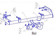 Фаркоп на Lada Kalina 1118 седан (2004-2013), Lada - Kalina 1117 универсал (2005-2013 ), Lada Granta седан (2011-), Lada Granta лифтбек (2011-), Lada Kalina 2 2194 универсал (2013-2018), Lada Granta универсал (2018-), Lada Granta Cross (2019-) (Bosal 1241-A)