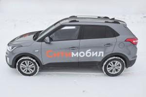 Рейлинги на Hyundai CRETA (2016-) серебристый муар