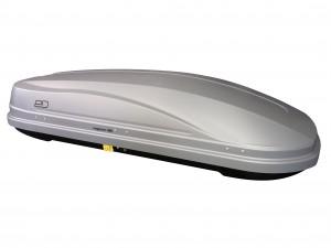 """Автомобильный Бокс на крышу Евродеталь """"Магнум 390"""" (390 литров, серый карбон) двухстороннее открывание"""