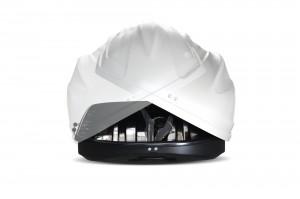 """Автомобильный Бокс на крышу """"Turino 1""""  (410 литров, белый) двухстороннее открывание"""