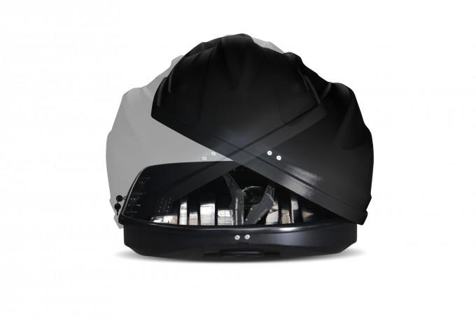 """Автомобильный Бокс на крышу """"Turino Compact"""" (360 литров, черный) двухстороннее открывание"""