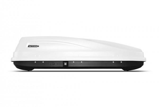 """Автомобильный Бокс на крышу """"ACTIVE S"""" (320 литров, белый) двухстороннее открывание"""