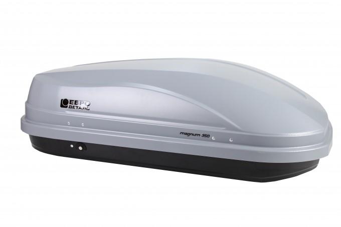 """Автомобильный Бокс на крышу Евродеталь """"Магнум 350"""" (350 литров, серый матовый)"""