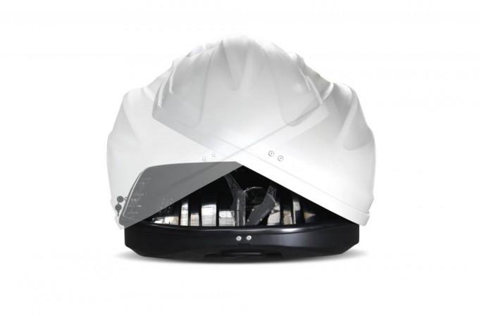 """Автомобильный Бокс на крышу """"Turino Sport"""" (480 литров, белый) двухстороннее открывание"""